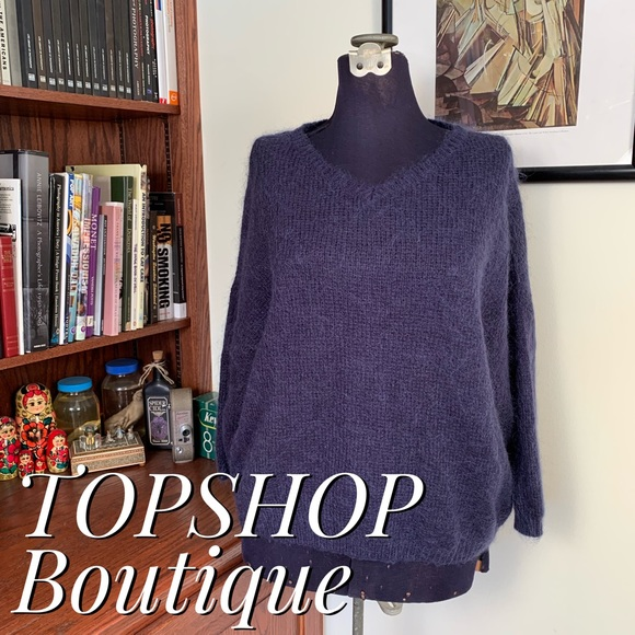 Topshop Sweaters - TOPSHOP Boutique Angora Drop Sleeve Sweater